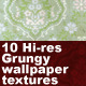 Victorian Green Wallpaper Texture Pack  - GraphicRiver Item for Sale