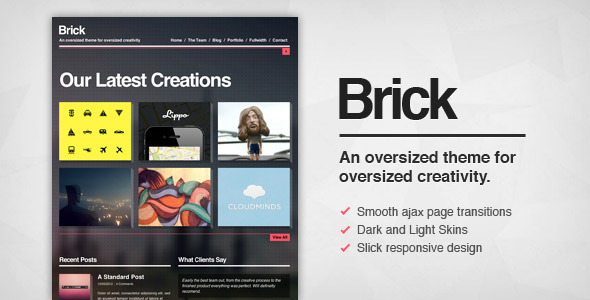 Brick - Creative Ajax Wordpress Theme