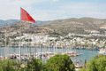 Bodrum and Turkish flag, Turkey - PhotoDune Item for Sale