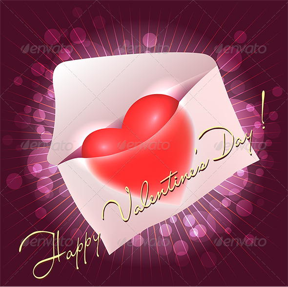 GraphicRiver Greeting Card with Heart in the Message 3763218