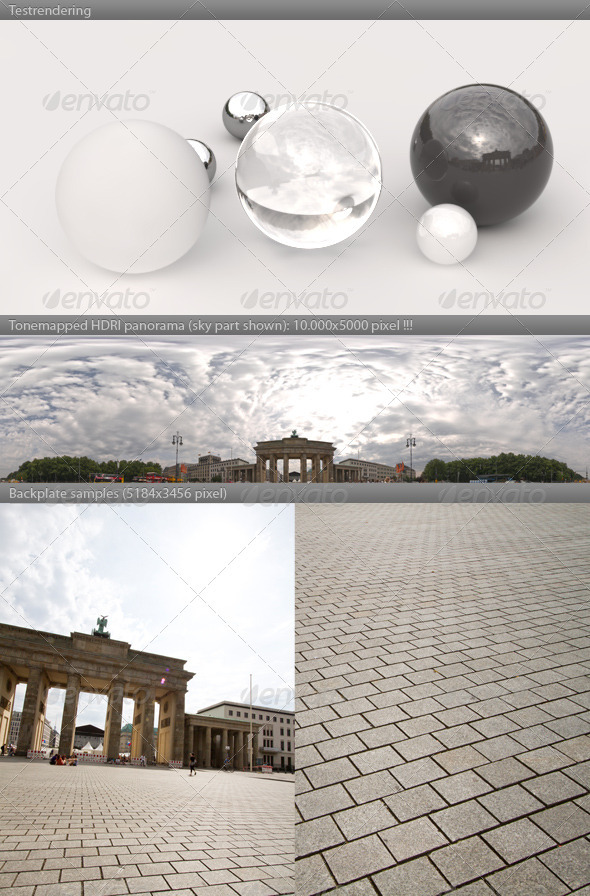 HDRI spherical panorama -1017- cloudy sky BERLIN - 3DOcean Item for Sale