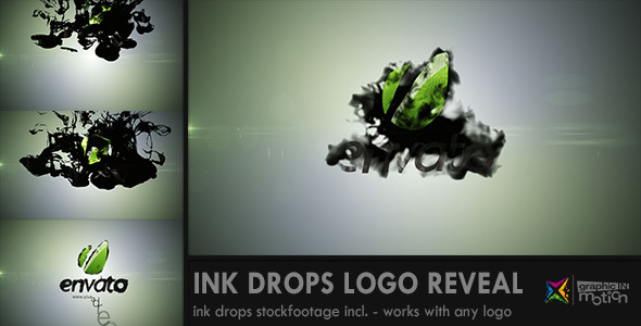 Ink Drops Logo Reveal