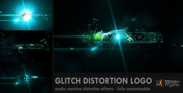 Glitch Distortion Logo
