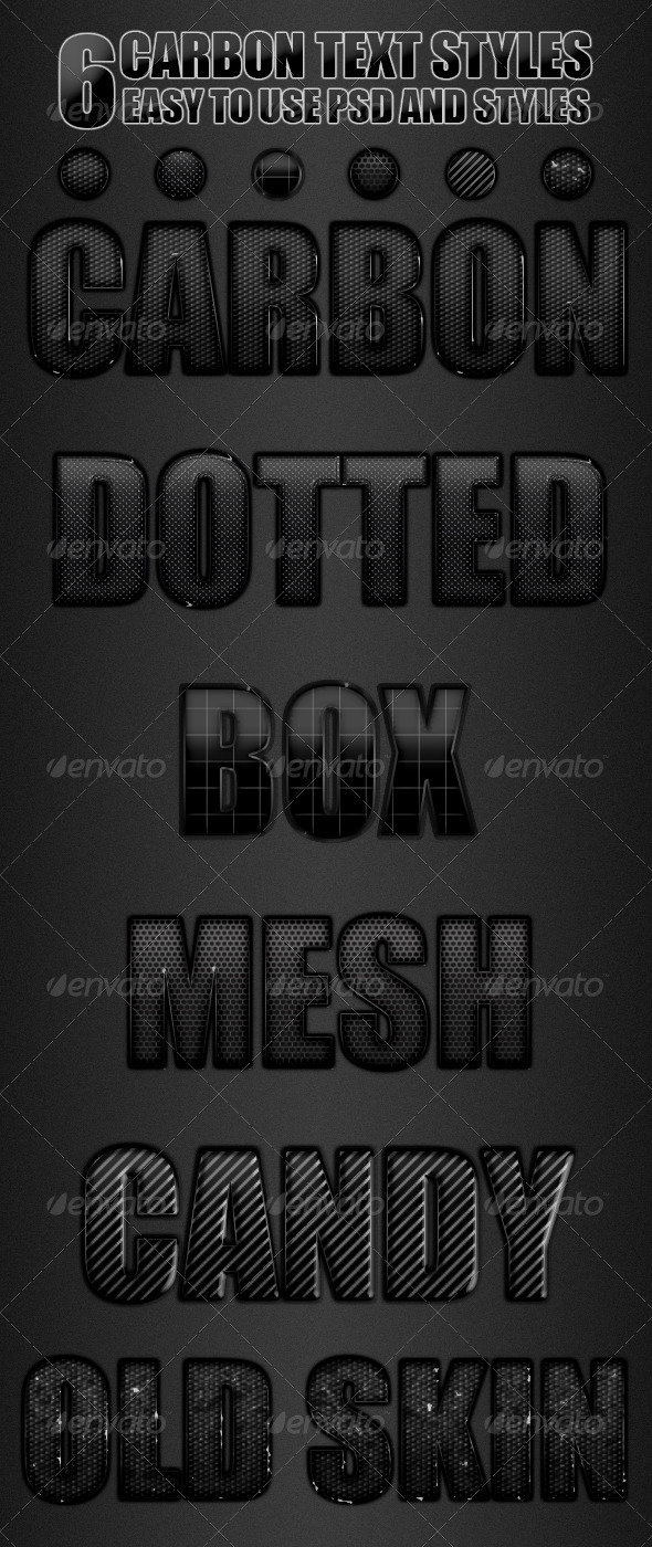 GraphicRiver Carbon Text Style 3700726