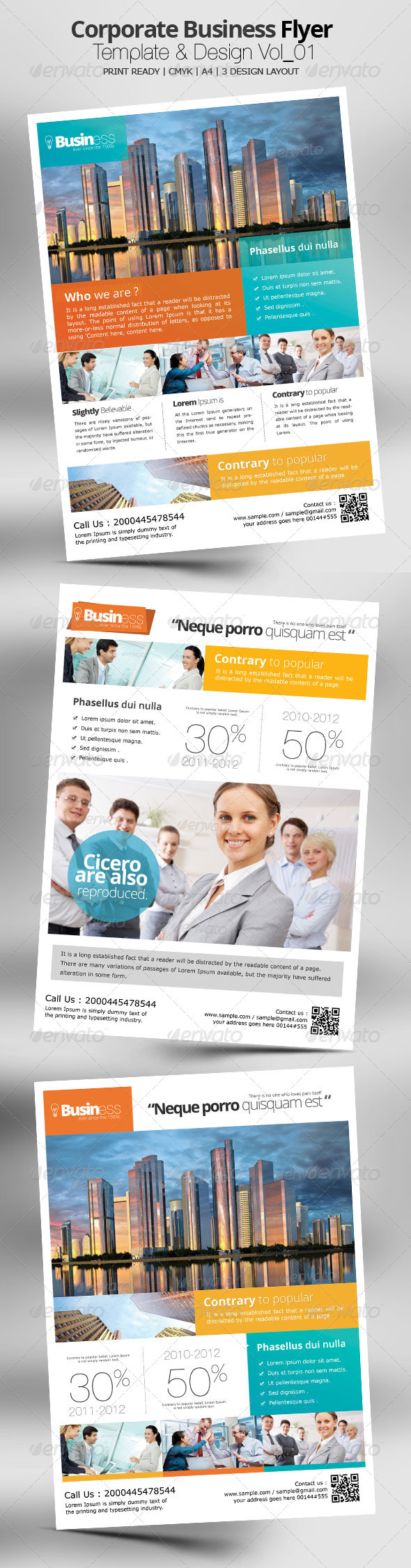 GraphicRiver Corporate Business Flyer Template & Design Vol 01 3763728