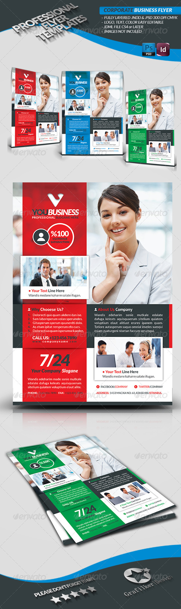 GraphicRiver Corporate Business Flyer 3702347