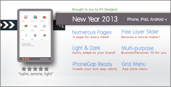 New Year 2013 | Responsive Mobile Template