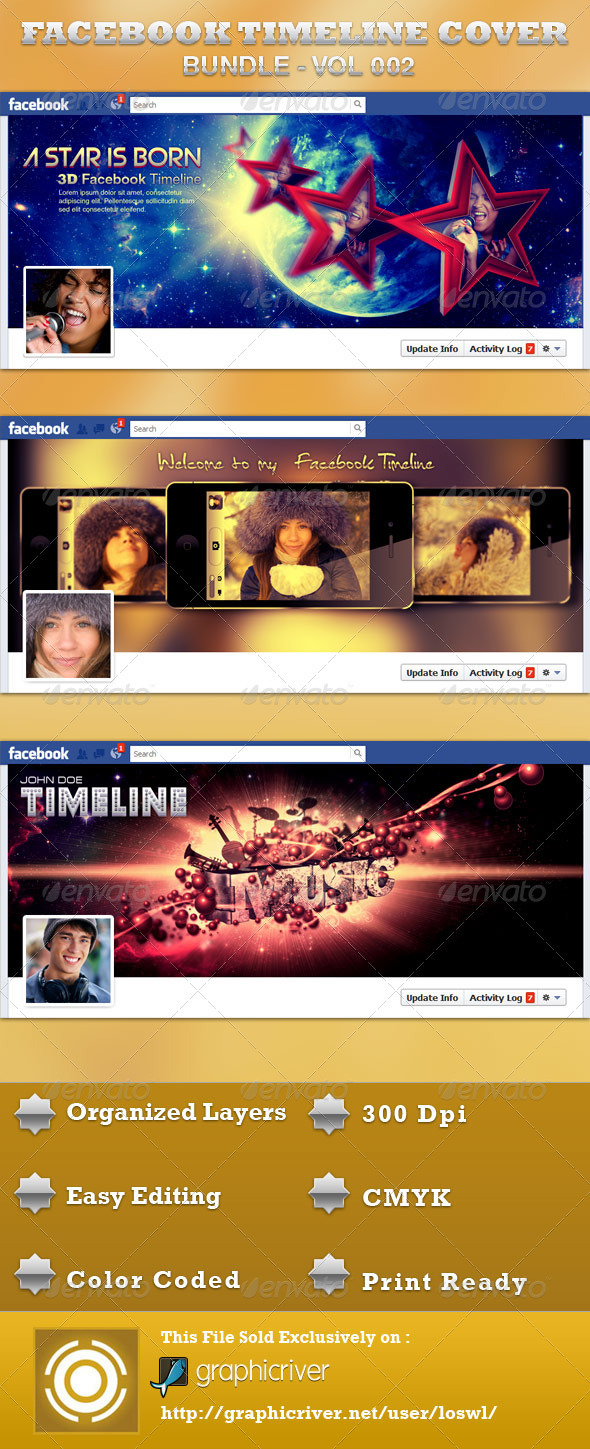 Facebook Timeline Cover Bundle - Facebook Timeline Covers Social Media