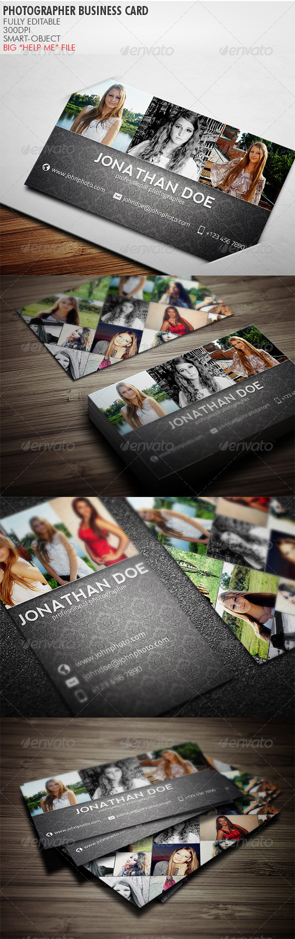 GraphicRiver Photographer Business Card 3764335