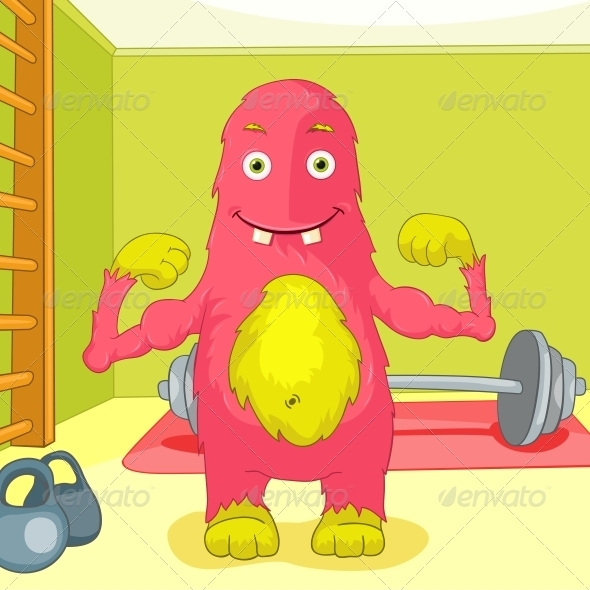 GraphicRiver Funny Monster 3764436