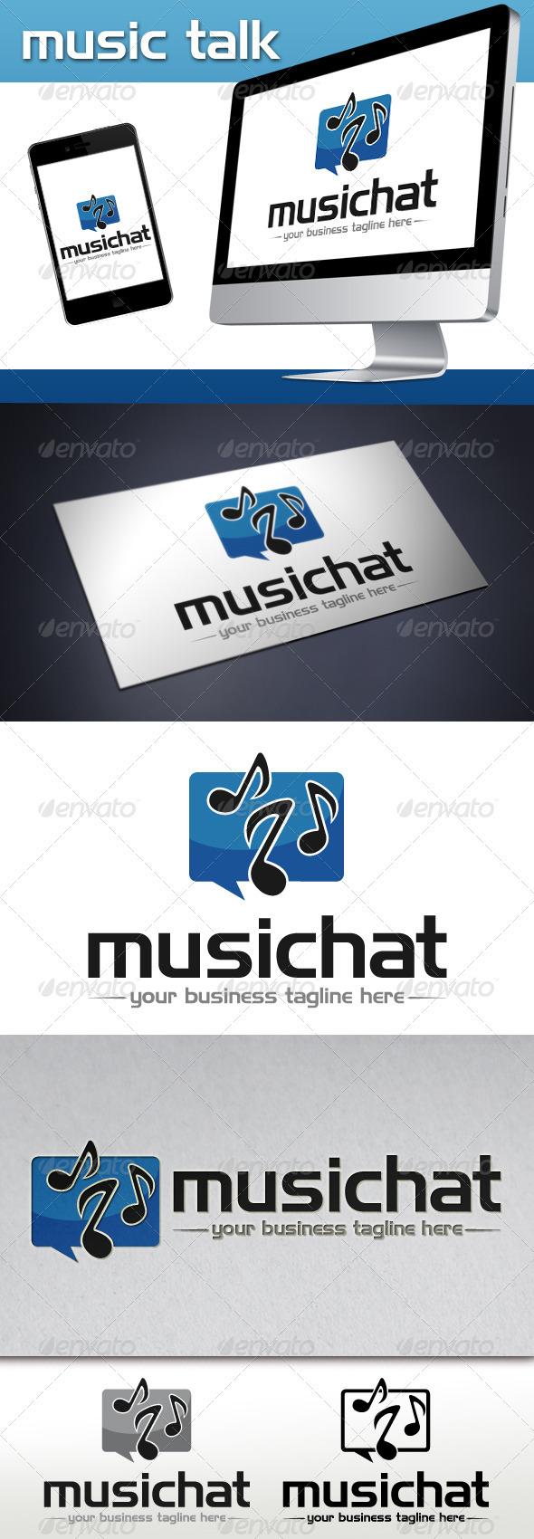 GraphicRiver Music Talk Logo Template 3765561