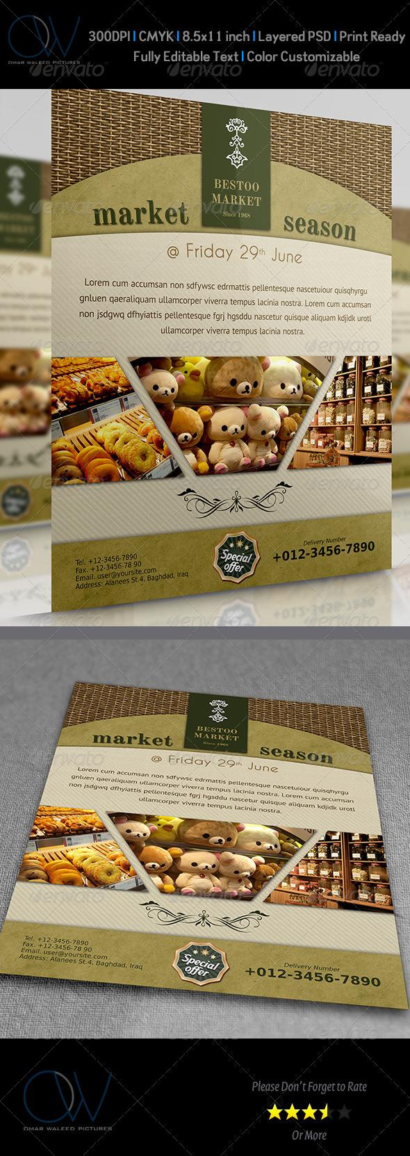 GraphicRiver Shop Market Flyer 3705608
