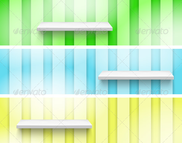 GraphicRiver Empty Shelf on the Wall 3766039