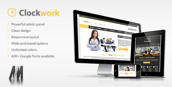 ThemeForest Clockwork WP Responsive Business Theme 3766048