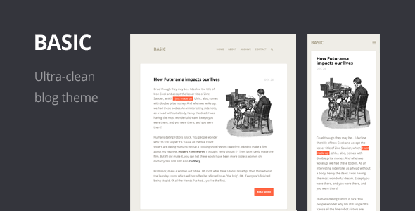 Basic - Ultra-clean Responsive Blog Theme