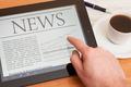 News on digital tablet. - PhotoDune Item for Sale