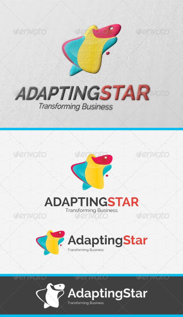 GraphicRiver Adapting Star Logo Template 3766200