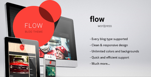 ThemeForest Flow responsive blog personal theme 3766226