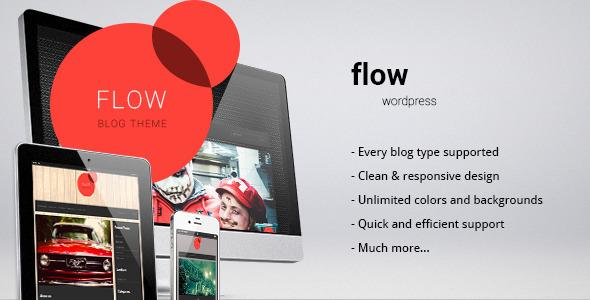 ThemeForest Flow responsive blog personal theme 3766226