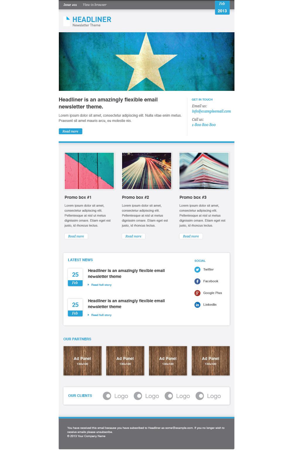 Headliner: Email Marketing & Newsletter Template