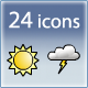 Weather Icon Set (24 icons) - GraphicRiver Item for Sale