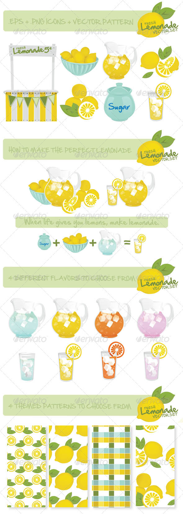 Lemonade s Stand Vector Set