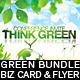 Think Green Bundle Flyer & Business Card - GraphicRiver Item for Sale