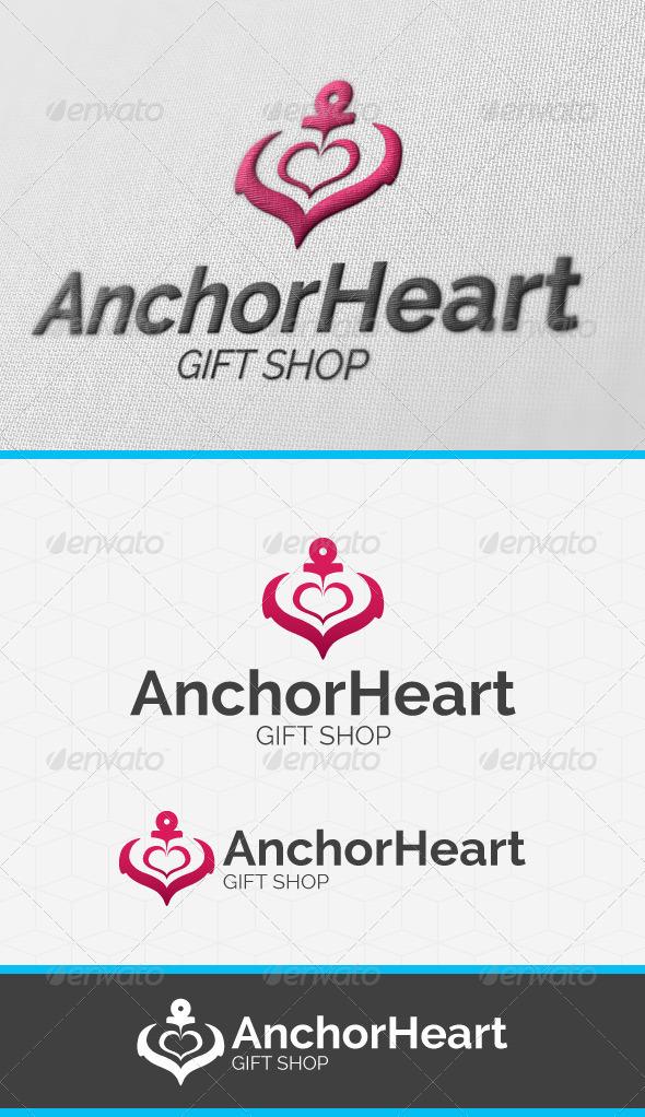 Anchor Heart Logo Template