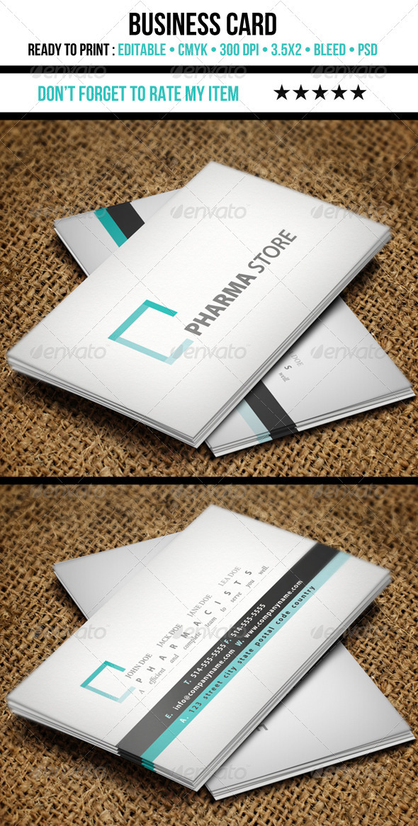 GraphicRiver Medical Business Card 3669586