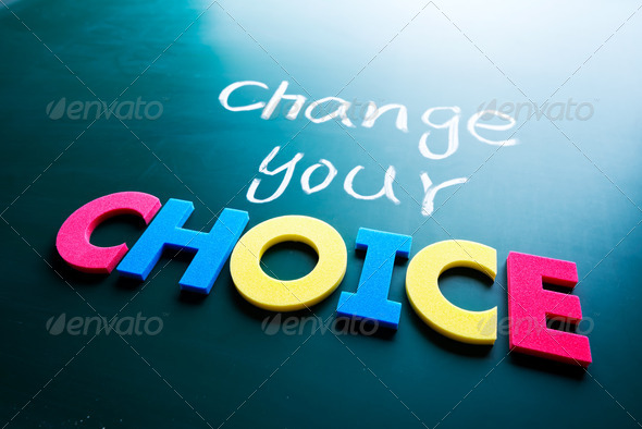 Change your choice concept - Stock Photo - Images
