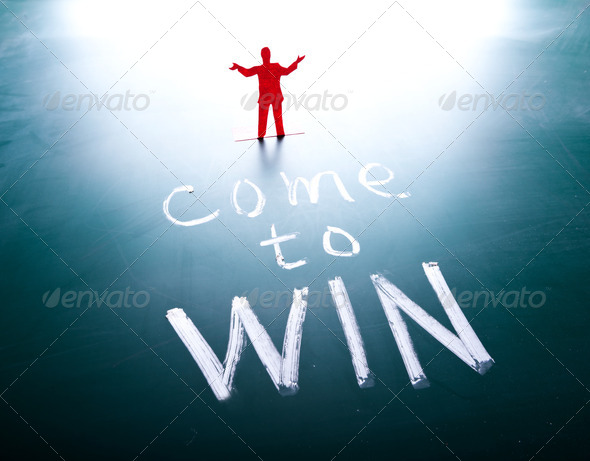 Come to win concept - Stock Photo - Images