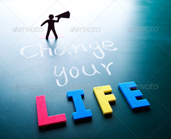 Change your life concept - Stock Photo - Images