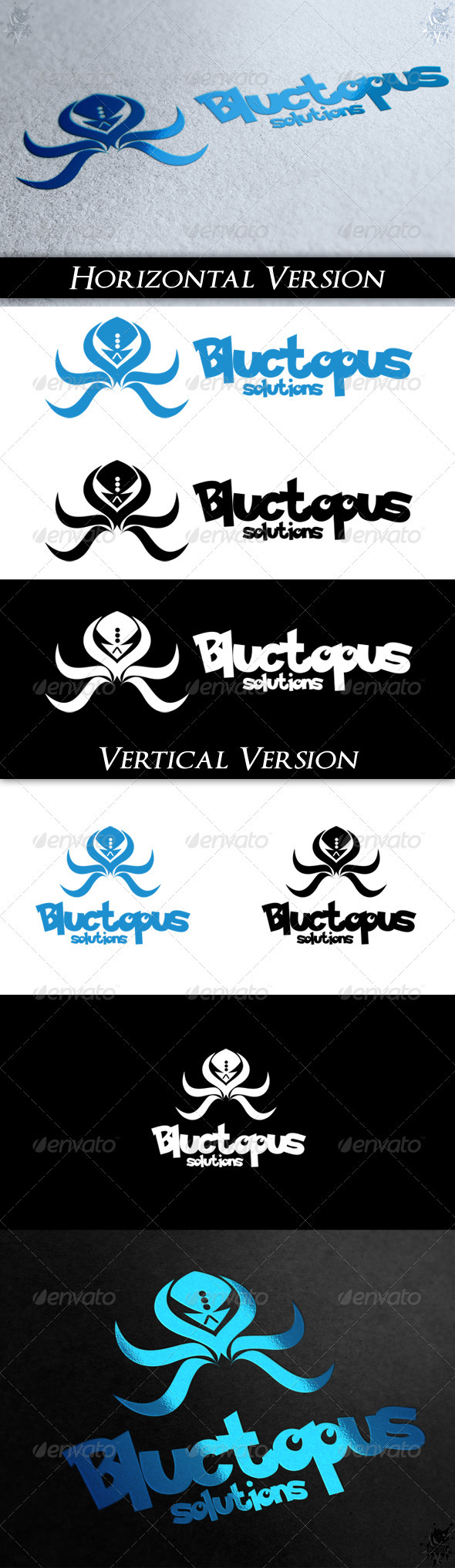 GraphicRiver Bluctopus Logo 3696788