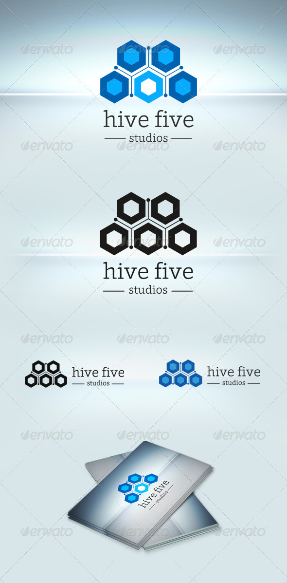 GraphicRiver Hive Five Logo Template 3709022