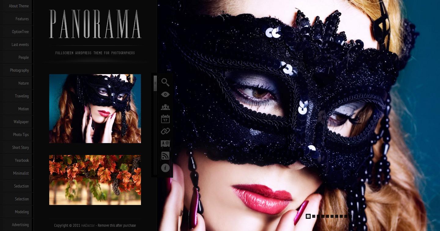 Panorama Fullscreen Photography WordPress Theme - theme preview