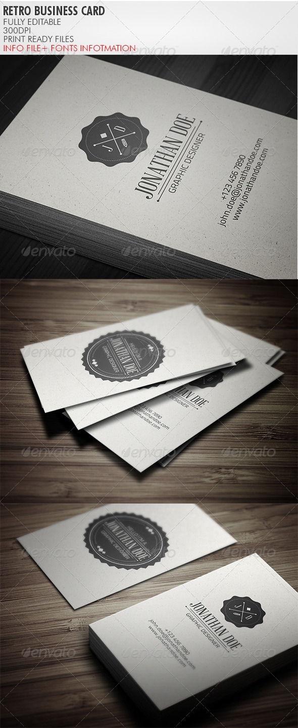 GraphicRiver Vintage Business Card 3769325