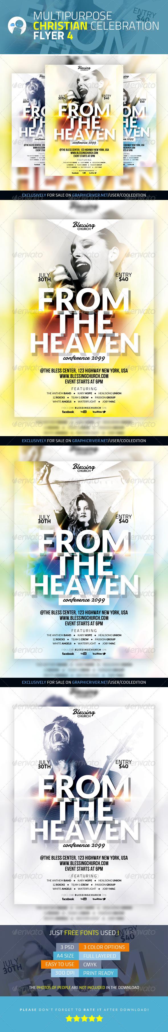 Multipurpose Christian Celebration Flyer 4 - Church Flyers