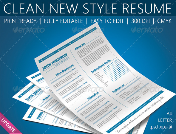 GraphicRiver Resume 3685145