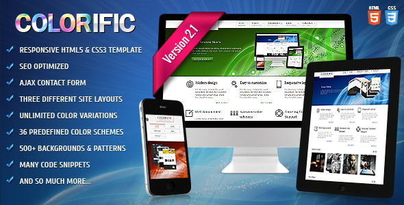 Colorific - Responsive HTML5 Template