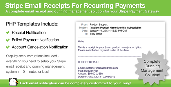 CodeCanyon Stripe Email Receipts For Recurring Payments 3769891