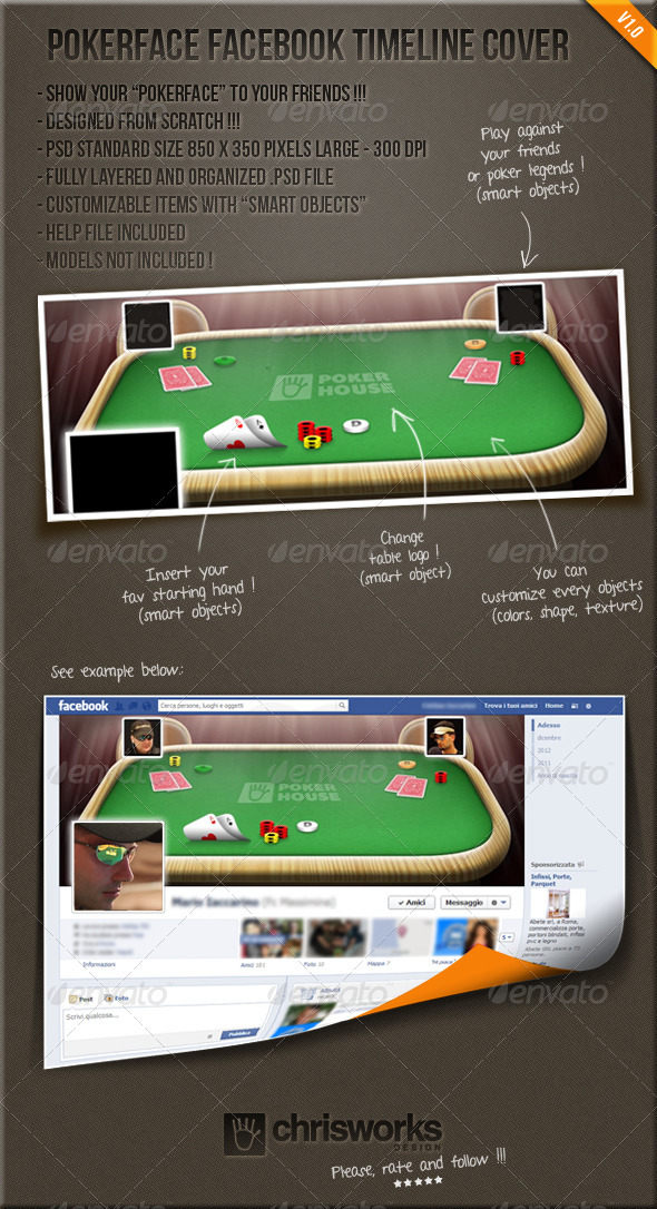 GraphicRiver Pokerface FB Timeline Cover 3770078