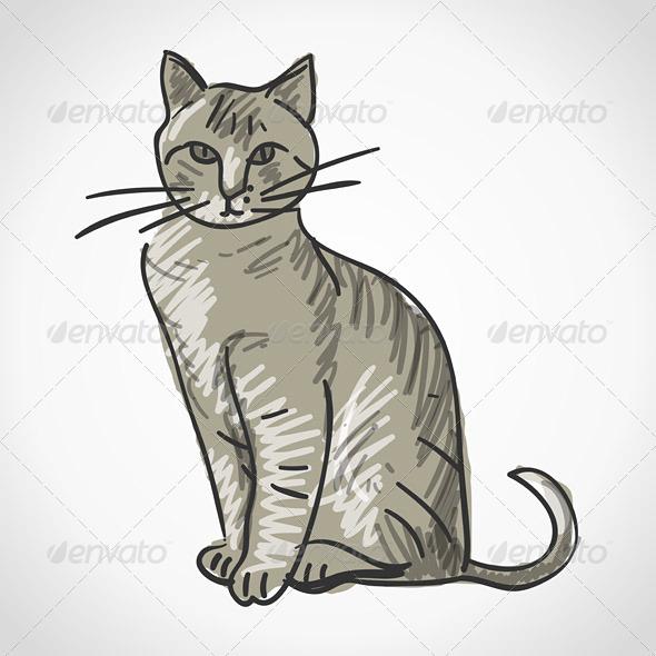 GraphicRiver Cat Illustration 3770140