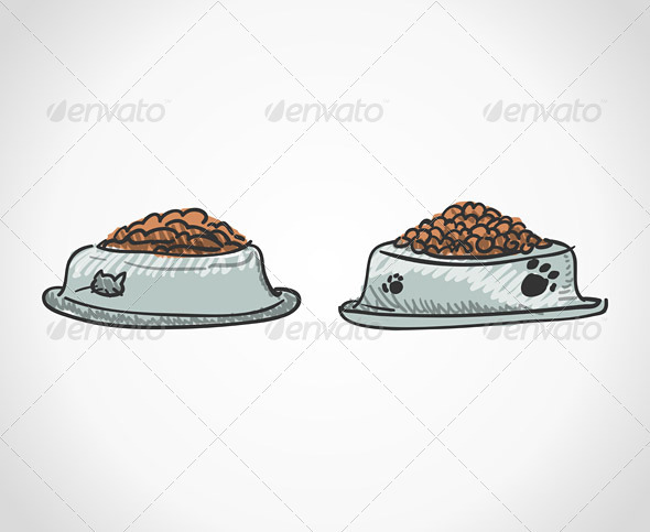 GraphicRiver Animal Food Bowl 3770147