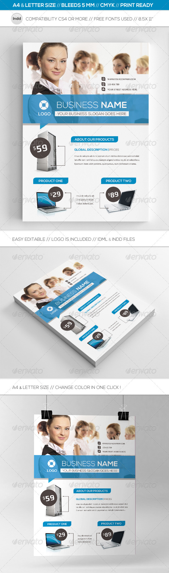 GraphicRiver Business Commerce Flyer Template A4 & Letter 3770172