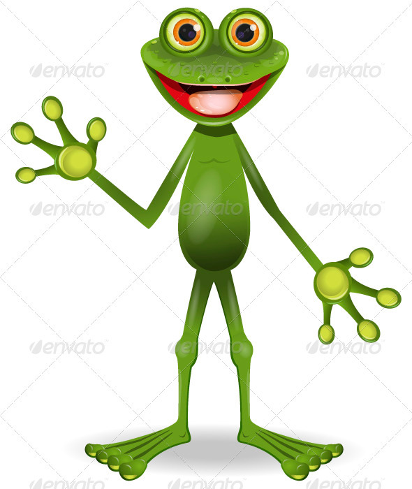 GraphicRiver very cheerful frog 3770173