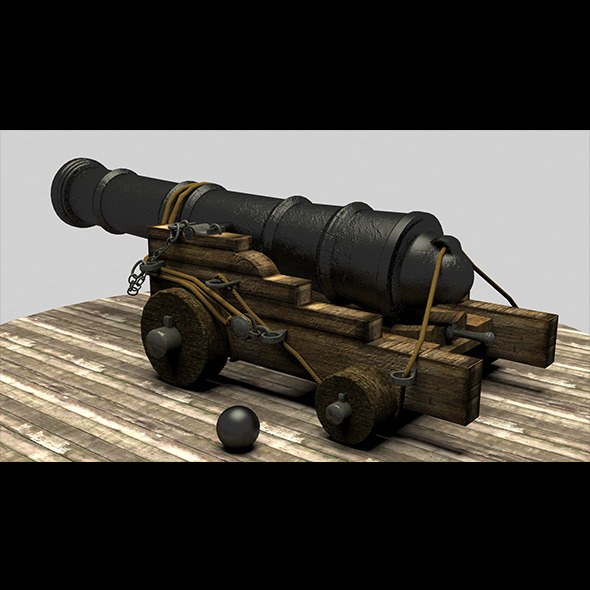 Pirate Cannon - 3DOcean Item for Sale