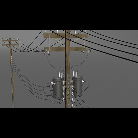 Utility Pole - 3DOcean Item for Sale