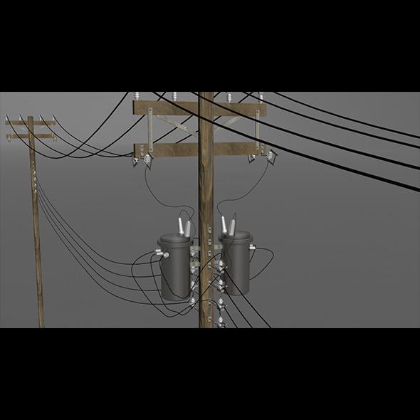 3DOcean Utility Pole 3770536