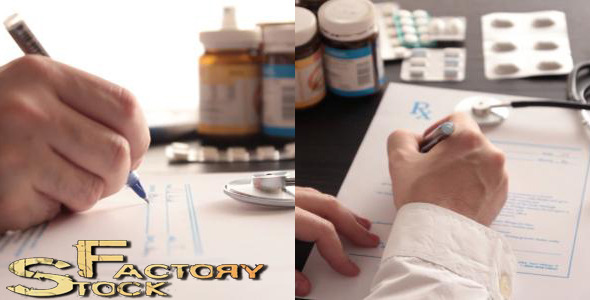 Doctor Writing Prescription 1 VideoHive Stock Footage  Medical 3770747