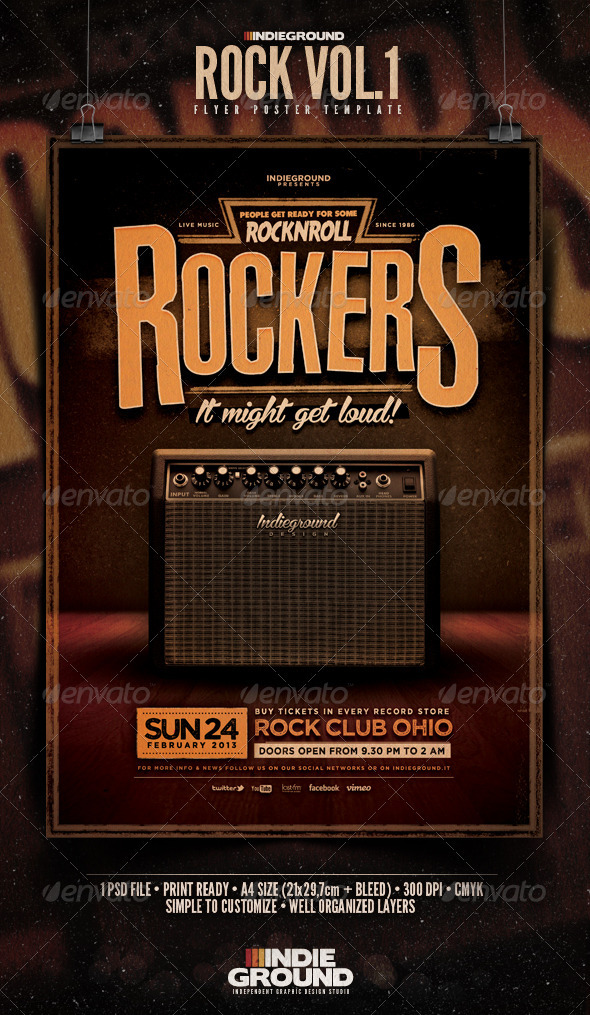 GraphicRiver Rock Flyer Poster 3770811